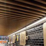 Şarküteri Dizaynında tavan ce duvar dekoru
