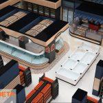 3D Market çizimi