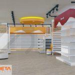 3D mağaza dekoru
